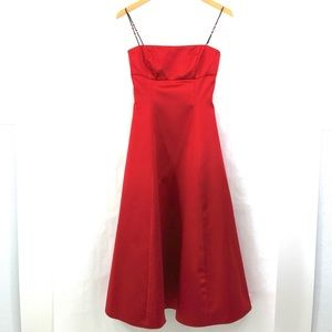 A B S  EVENING by ALLEN SCHWARTZ Red A-Line Dress
